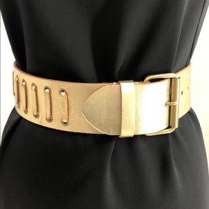 Nichole Miller genuine leather wide belt